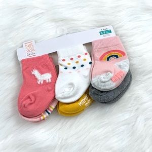 Just One You by Carters 6 Pack Baby Girl Socks